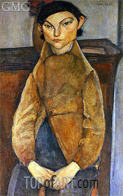 Young Gypsy, 1909 | Modigliani | Painting Reproduction