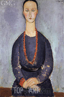 Modigliani | Woman with a Red Necklace, 1918