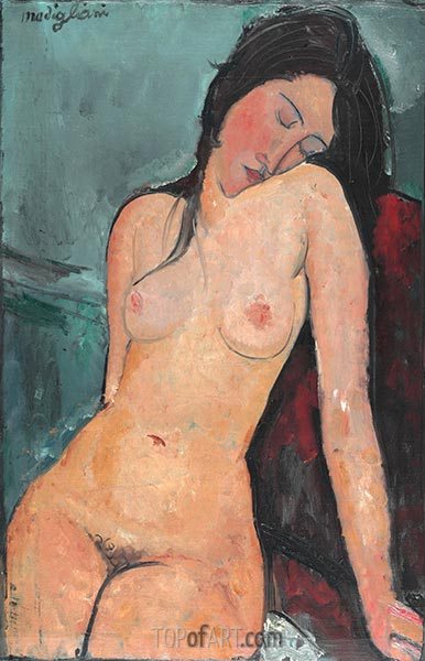 Modigliani | Female Nude, c.1916