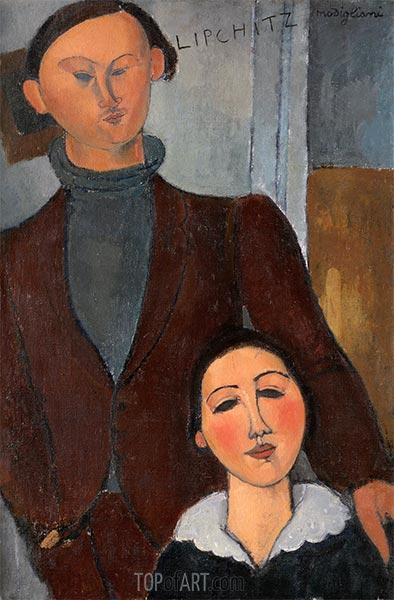 Jacques and Berthe Lipchitz, 1916 | Modigliani | Painting Reproduction