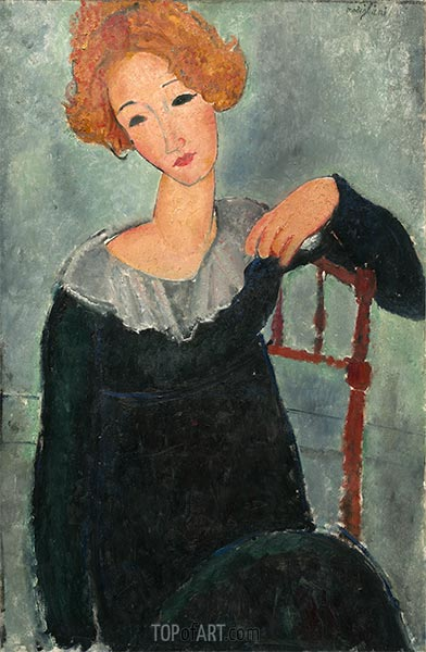 Woman with Red Hair, 1917   Modigliani   Painting Reproduction