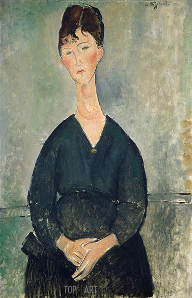 Café Singer, 1917 | Modigliani | Painting Reproduction