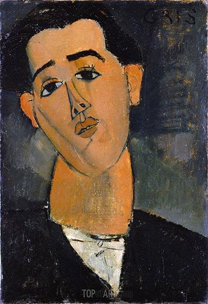 Juan Gris, 1915 | Modigliani | Painting Reproduction