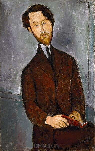 Léopold Zborowski, c.1916   Modigliani   Painting Reproduction