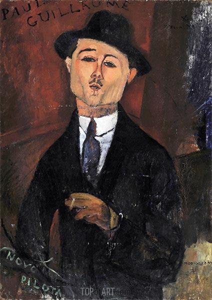 Paul Guillaume, Novo Pilota, 1915 | Modigliani | Painting Reproduction