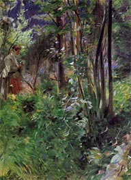 A Woman in a Forest, 1907 by Anders Zorn | Painting Reproduction