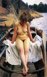 In Werner's Rowing Boat | Anders Zorn | Painting Reproduction