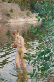 Frileuse (Shivering Girl) | Anders Zorn | Painting Reproduction
