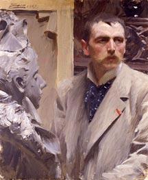 Selbstporträt, 1889 von Anders Zorn | Gemälde-Reproduktion