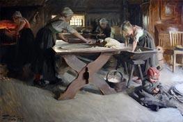 Brot backen, 1889 von Anders Zorn | Gemälde-Reproduktion