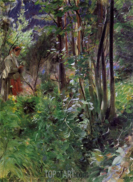 A Woman in a Forest, 1907 | Anders Zorn | Gemälde Reproduktion