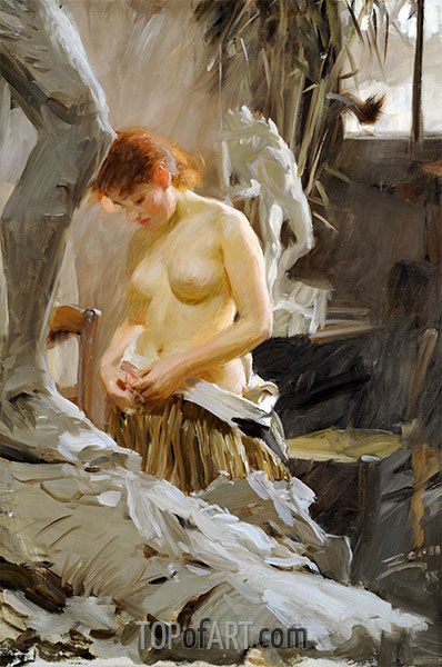 I Wikstroms Atelje, undated | Anders Zorn | Painting Reproduction