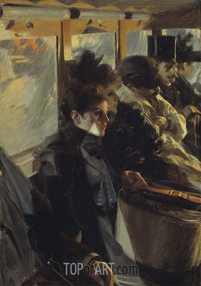 Omnibus, 1892 | Anders Zorn | Painting Reproduction