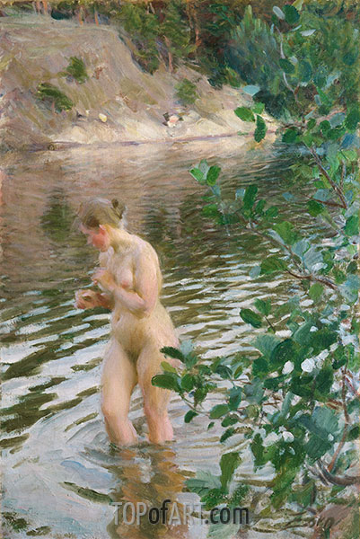 Anders Zorn | Frileuse (Schüttelfrost Mädchen), 1894