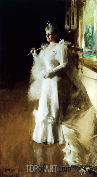 Mrs. Potter Palmer, 1893 | Anders Zorn | Painting Reproduction