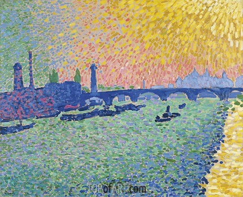 Waterloo Bridge, 1906 | Andre Derain | Painting Reproduction