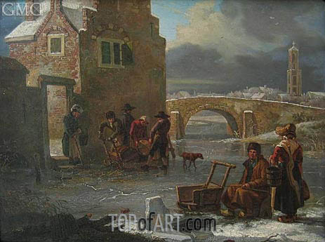 Andries Vermeulen | A Winter Landscape, undated