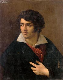 Portrait of a Young Man, undated by Girodet de Roussy-Trioson | Painting Reproduction