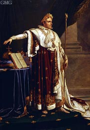 Napoleon in Coronation Robes, Undated by Girodet de Roussy-Trioson | Painting Reproduction