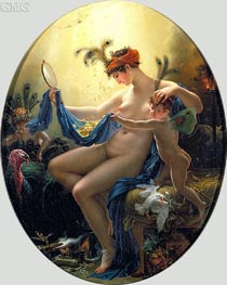 Portrait of Mlle Lange as Danae | Girodet de Roussy-Trioson | outdated