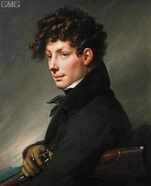 Man's Portrait in Hunter | Girodet de Roussy-Trioson | outdated