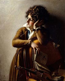 Portrait of Benoit-Agnes Trioson, 1800 by Girodet de Roussy-Trioson | Painting Reproduction