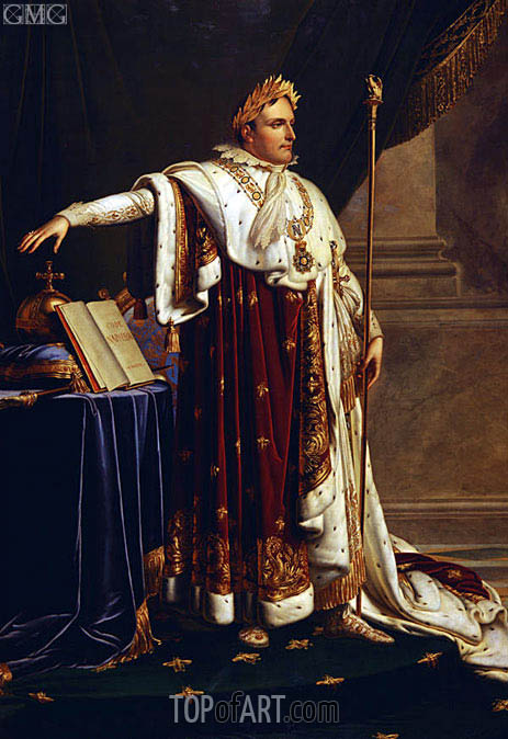 Napoleon in Coronation Robes,  | Girodet de Roussy-Trioson | Painting Reproduction