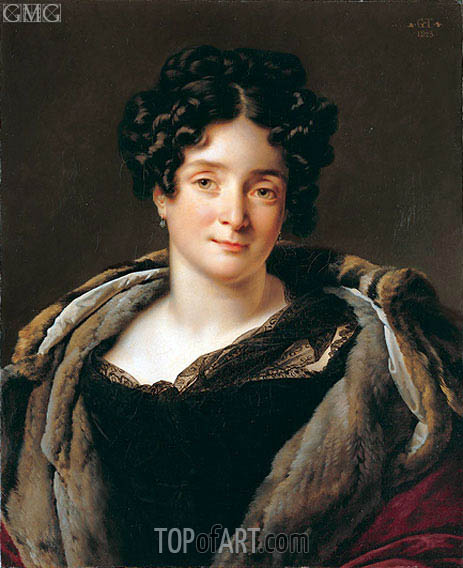 Girodet de Roussy-Trioson | Portrait of Madame Jacques-Louis Etienne Reizet Colette-Desiree-Therese Godefro, 1823