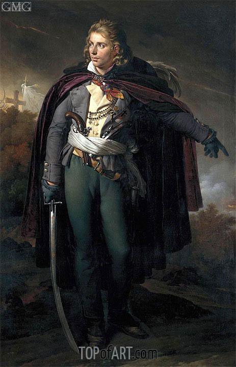 Girodet de Roussy-Trioson | Portrait of Jacques Cathelineau commander of the Vendee, c.1816/24