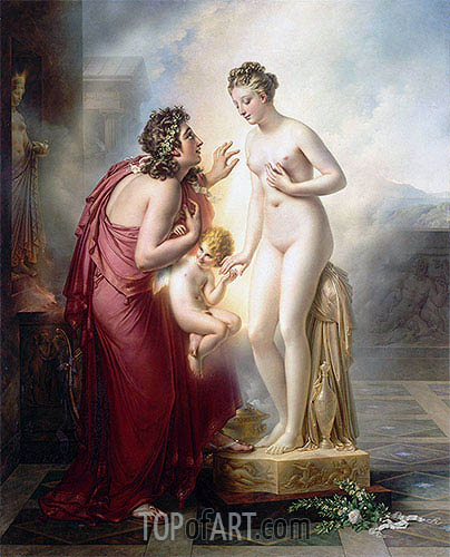 Pygmalion and Galatea, c.1813/19 | Girodet de Roussy-Trioson | Painting Reproduction