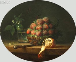 Still Life with Plums and a Lemon, 1778 by Vallayer-Coster | Painting Reproduction