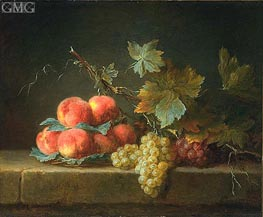 Still Life with Peaches and Grapes | Vallayer-Coster | outdated