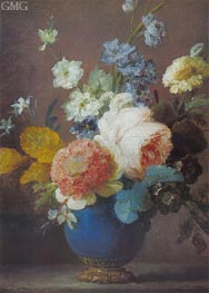 Vase of Flowers, undated by Vallayer-Coster | Painting Reproduction