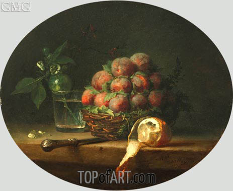 Still Life with Plums and a Lemon, 1778 | Vallayer-Coster | Painting Reproduction