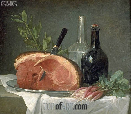 Still Lives with Ham, 1767 | Vallayer-Coster | Painting Reproduction