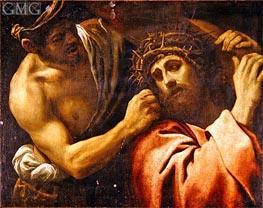 Christ Carrying the Cross, Undated von Annibale Carracci | Gemälde-Reproduktion