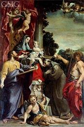 Madonna Enthroned with St. Matthew, 1588 von Annibale Carracci | Gemälde-Reproduktion