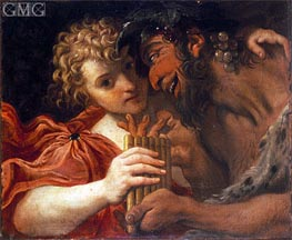 Satyr and Shepherd | Annibale Carracci | outdated