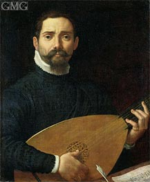 Portrait of a Lute Player | Annibale Carracci | outdated