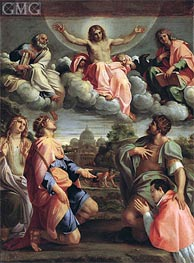 Christ in Glory with the Saints | Annibale Carracci | Painting Reproduction