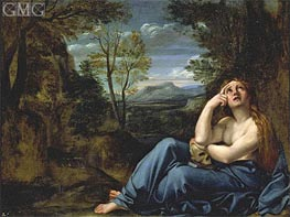 Mary Magdalene in a Landscape | Annibale Carracci | Painting Reproduction