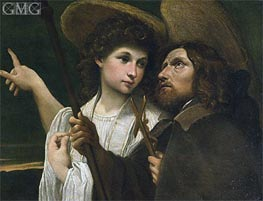 St Roch and the Angel | Annibale Carracci | Painting Reproduction