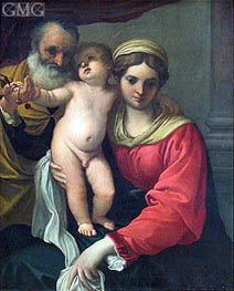 Virgin with Cherries | Annibale Carracci | outdated
