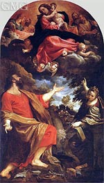 The Virgin Appearing to St. Luke and St. Catherine | Annibale Carracci | outdated