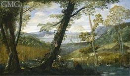 River Landscape | Annibale Carracci | Painting Reproduction