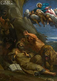 Christ appearing to Saint Anthony Abbot | Annibale Carracci | Painting Reproduction