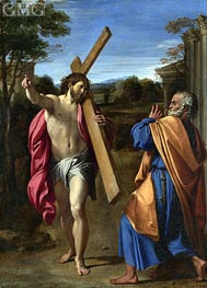 Christ Appearing to Saint Peter on the Appian Way | Annibale Carracci | outdated