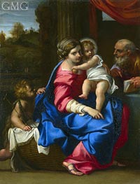The Holy Family with the Infant Saint John the Baptist | Annibale Carracci | outdated