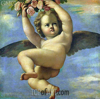 Annibale Carracci | A Cherub Carrying Flowers,