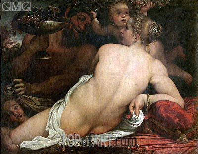 A Bacchante,  | Annibale Carracci | Painting Reproduction